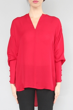 Tamara Mellon - Key Hole Silk Blouse