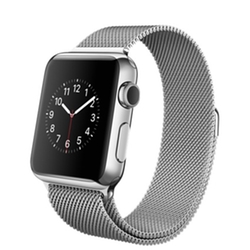 Apple - Stainless Steel Case With Milanese Loop