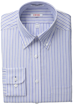 Izod - Regular Fit Blue Multi Stripe Shirt