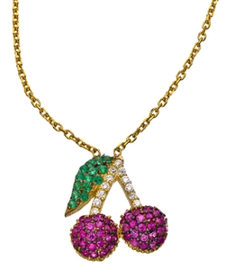 Seraphina - CZ Cherries Necklace