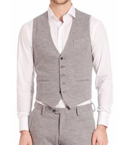 Eleventy  - Metal Buttoned Jersey Waistcoat