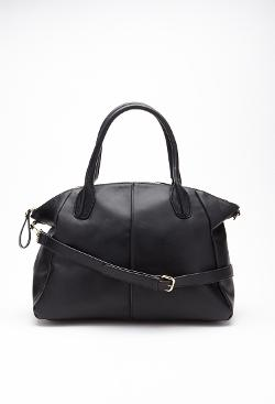 Forever21 - Zippered Faux Leather Tote Bag