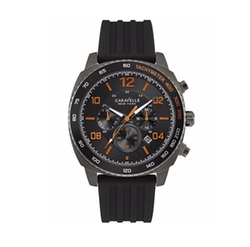 Caravelle New York - Chronograph Black Silicone Strap Watch