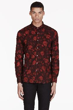 Diesel  - Red Rose Print Susanna Shirt