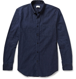 Club Monaco - Button-Down Collar Cotton-Chambray Shirt