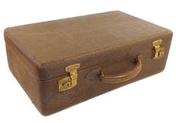 Black Market Antiques - Leather Covered Hardshell Suitcase