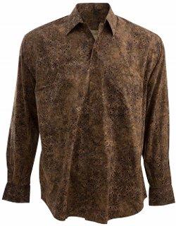 Johari West  - Chocolate Truffle Tropical Hawaiian Print Shirt