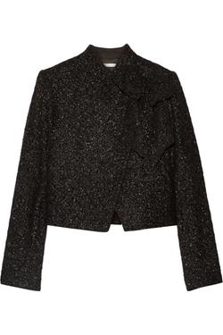 Alice + Olivia  - Hope Bow-Embellished Metallic Tweed Jacket