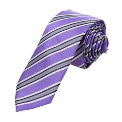 Dan Smith  - Woven Microfiber Stripe Skinny Tie