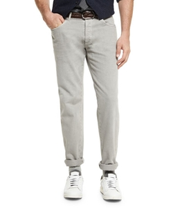 Brunello Cucinelli  - Five-Pocket Cotton Denim Pants