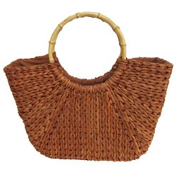 Boardwalk Style - Bamboo Straw Tote