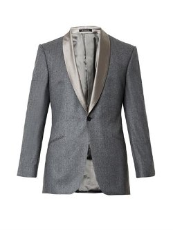 Richard James  - Satin-lapel Wool Blazer