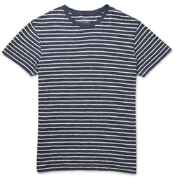 J.Crew  - Field Knit Striped Cotton-Jaspé T-Shirt