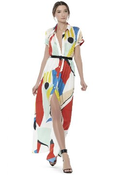 Alice and Olivia - Arlen Maxi Shirt Dress