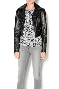West Coast Leather - Cropped Moto Jacket