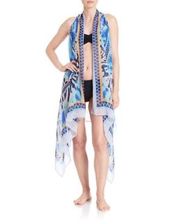 T&C Theodora & Callum  - Tie-dyed Kimono Coverup