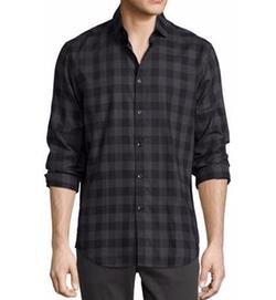 The Good Man  - Brand Buffalo Check Woven Sport Shirt