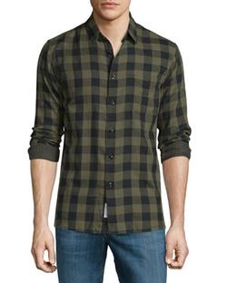 Rag & Bone - Beach Check Long-Sleeve Sport Shirt