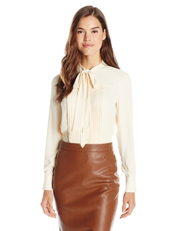 Anne Klein - Long-Sleeve Bow Blouse