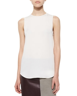 Theory - Bringam Sleeveless Silk Blouse