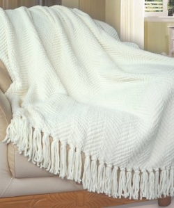 BNF Home - Knitted Tweed Throw Couch Cover Blanket