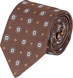 Bigi - Floral Medallion Jacquard Necktie