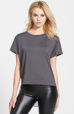 Blanc Noir  - Rear Underlay Short Sleeve T-Shirt
