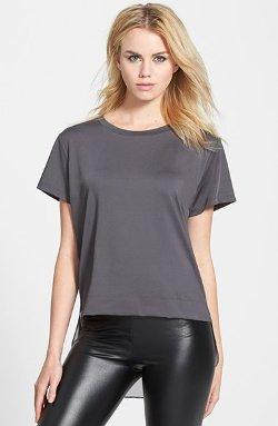 Blanc Noir  - Rear Underlay Short Sleeve T-Shirt