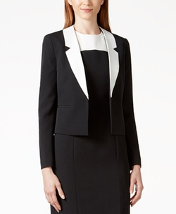 Kasper - Colorblocked-Lapel Blazer