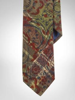 Polo Ralph Lauren - Floral-Print Narrow Madras Tie