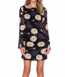 Ganni - Floral Long Sleeve Shift Dress