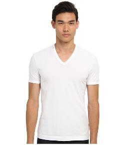 Dolce & Gabbana  - Cotton Stretch V-Neck T-Shirt