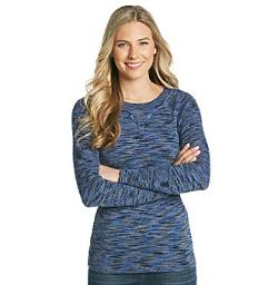 Relativity  - Long Sleeve Ribbed Crew Novelty Sweater