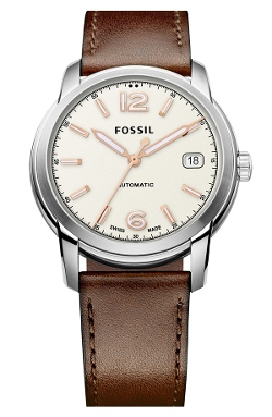 Fossil  - Swiss Automatic Leather Strap Watch