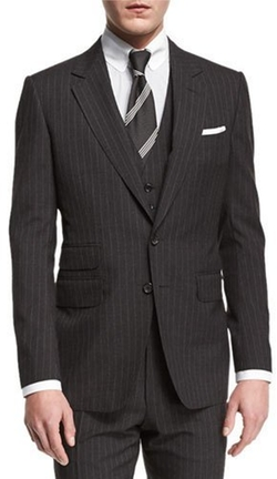 Tom Ford - Buckley Base Pinstripe Three-Piece Wool Suit