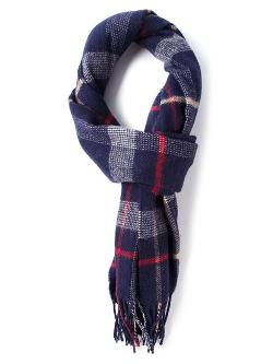 Mr Start - Plaid Fringed Scarf