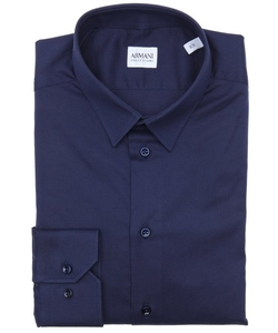 Armani  - Stretch Cotton Point Collar Dress Shirt