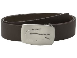 Lacoste  - SPW Leather Belt Metal Croc Buckle Plate