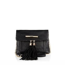 River Island - Mini Cross Body Tassel Handbag