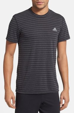 Adidas - Ultimate Stripe Crewneck T-Shirt