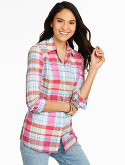 Talbots - Fireworks Plaid Shirt