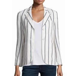 Theory - Brightdale Wide-Stripe Wool Blazer