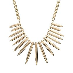 Gs By Gemma Simone  - Tribal Beat Collection Mai Spike Bib Necklace