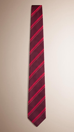 Burberry - Modern Cut Striped Silk Tie