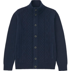 Uniqlo - Heavy Gauge Stand Neck Cardigan Sweater