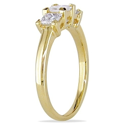 JeenJewels - Three Stone Diamond Engagement Ring