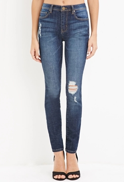 Forever 21 - Distressed Skinny Jeans