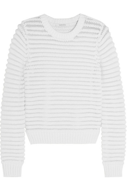 Carven - Chenille-Knit Cotton-Blend Sweater