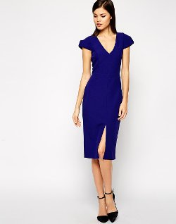 ASOS  - Structured Dress with Deep V-Neck