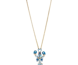 Betsey Johnson - Into The Blue Lobster Long Pendant